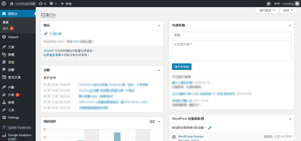 Wordpress.org 版型